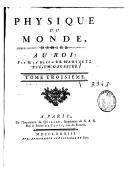 Physique du monde. 3 / ,... par M. le baron de Marivetz et par M. Goussier...