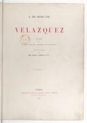 Vélazquez / A. de Beruete ; préface de M. Léon Bonnat,... ; illustrations par MM. Braun, Clément et Cie