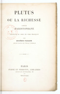 Plutus, ou La richesse / comédie d'Aristophane ; traduite du grec en vers français, par Eugène Fallex,...