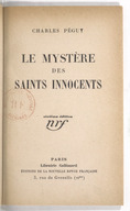 Le mystère des saints Innocents (6e édition) / Charles Péguy