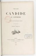 Candide ou L'optimisme / Voltaire ; préface de Francisque Sarcey ; illustrations de Adrien Moreau