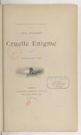 Cruelle énigme / Paul Bourget ; ill. de Marold et Mittis