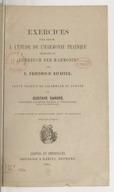 """Exercices pour servir à l'étude de l'harmonie pratique, extraits du """"Lehrbuch der Harmonie"""" (2e édition)"""