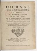 Journal des observations physiques, mathematiques et botaniques. Tome 2 / , faites par l'ordre du Roy sur les côtes orientales de l'Amerique meridionale, & dans les Indes occidentales, depuis l'année 1707. jusques en 1712....