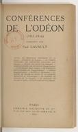 Conférences faites aux matinées classiques du Théâtre national de l'Odéon