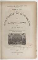 """Aventures de trois Russes et de trois Anglais dans l'Afrique australe / par Jules Verne ; illustrés [""""sic""""]... par Férat ; gravées par Pannemaker"""