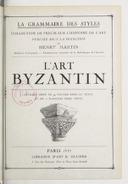 L'art byzantin / Henry Martin