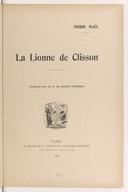 La lionne de Clisson / Pierre Maël ; illustrations de P. de Saint-Étienne [et de René Vincent]