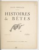 Histoires de bêtes (3e éd.) / Louis Pergaud ; illustrations de H. Deluermoz
