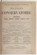 Solfèges du Conservatoire par Cherubini, Catel, Méhul, Gossec, Langlé, etC (Nouvelle édition, livre 4)