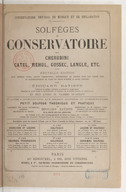 Solfèges du Conservatoire par Cherubini, Catel, Méhul, Gossec, Langlé, etc (Nouvelle édition, livre 3)
