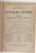 Solfèges du Conservatoire par Cherubini, Catel, Méhul, Gossec, Langlé, etc (Nouvelle édition, livre 5)