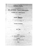 Observations sur plusieurs plantes nouvelles rares ou critiques de la France. Fragment 1 / par Alexis Jordan