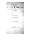 Observations sur plusieurs plantes nouvelles rares ou critiques de la France. Fragment 4 / par Alexis Jordan