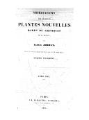 Observations sur plusieurs plantes nouvelles rares ou critiques de la France. Fragment 6 / par Alexis Jordan
