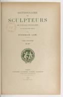 Dictionnaire des sculpteurs de l'Ecole française au dix-neuvième siècle.  T. II. D.-F.  / par Stanislas Lami...