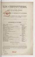 Les chiffonniers : pièce en cinq actes, mêlée de couplets / par MM. Bayard, T. Sauvage et F. de Courcy...
