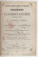 Solfèges du Conservatoire, dernières leçons de Cherubini. 10° livre