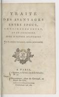 Traité des avantages entre époux, considérés seuls, et en concours avec d'autres avantages . Par le citoyen Levasseur,...
