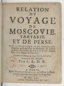 Relation du voyage de Moscovie...