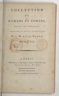 Collection de romans et contes, imités de l'anglois. Tome 3 / , corrigés et revue de nouveau par M. de La Place...