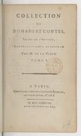 Collection de romans et contes, imités de l'anglois. Tome 1 / , corrigés et revue de nouveau par M. de La Place...