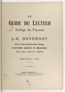Le Guide du lecteur. Solfège du pianiste... Suivi de trois recueils de pièces classiques d'auteurs anciens et modernes, choisies, classées et doigtées par L. Lemoine. Volume 2