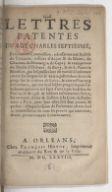 Lettres patentes du roy charles septiesme, en forme de commission, adressantes aux baillifs de Touraine, ressorts d'Anjou et du Mayne, de Chartres, de Montargis, de Cepoy et exemptions du duché d'Orléans, de Berry et de...