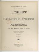 Exercices, études et morceaux dans tous les tons majeurs et mineurs (faciles et de moyenne force)
