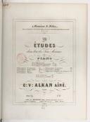 12 études dans tous les tons mineurs pour piano : oeuv. 39. Numéro 6 / par C.V. Alkan aîné