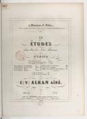 12 études dans tous les tons mineurs pour piano : oeuv. 39. Numéro 2 / par C.V. Alkan aîné