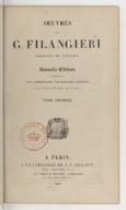 Oeuvres de G. Filangieri. Tome 1 / traduites de l'italien [par J.-Ant. Gauvain Gallois]