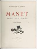Manet raconté par lui-même. Tome 2 / Étienne Moreau-Nélaton,...