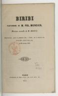 Biribi / pantomime de M. Pol Mercier ; musique nouvelle de M. Hervé