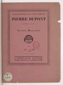 Pierre Dupont : comédie en un acte (9e édition) / par Lucien Descaves