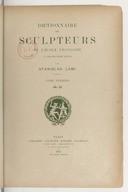 Dictionnaire des sculpteurs de l'Ecole française au dix-neuvième siècle. T. I. A-C  / par Stanislas Lami...