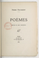 Poèmes / Pierre Frayssinet ; préface de Jean Giraudoux
