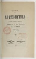 Le presbytère : 4e partie du poème de Mic̨kiéwicz / traduction en vers par P. Dubois ; précédée d'une préface par N. David