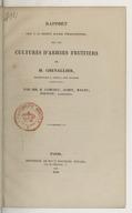 Rapport fait à la Société royale d'horticulture, sur les cultures d'arbres fruitiers de M. Chevallier, propriétaire à Torfou... / par MM. B. Camuzet, Jamin, Malot ; Poiteau, rapporteur