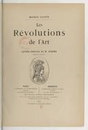 Les révolutions de l'art / Maurice Valette ; lettre-préface de M. Gérome,...