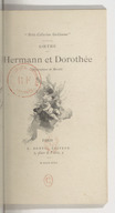 Hermann et Dorothée / Goethe ; [traduction de Bitaubé] ; illustrations de Marold