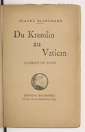 Du Kremlin au Vatican : l'Europe en avion / Claude Blanchard