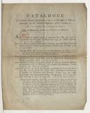 Catalogue de quelques articles pretieux ou rares en ouvrages d'histoire naturelle, ou des auteurs classiques, qui se trouvent en plusieurs exemplaires chez A. Blumauer, libraire à Vienne en Autriche.