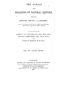 The annals of magazine of natural history including zoology, botany, and geology ([Reprod.]) / conducted by Albert C. L. G. Günther, William Carruthers and William Francis