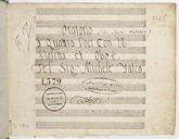 Oratorio // à Quatro Voci con V. // Violetta et Oboe // Del Sig.r Michele Falco