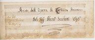 Ariette dell'Opera di Comodo Antonino // Del Sig.r Aless.o Scarlatti 1696