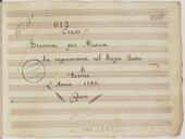 Creso // Dramma per Musica // da rappresentarsi nel Regio Teatro // di // Torino // L'Anno 1777. // Cafaro (manuscrit autographe)