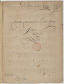 Coeleste Convivium Del signor // Danielis (manuscrit en partie autographe)
