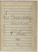 Les deux Salem // Opéra en Un Acte // Paroles de Mr Paulin // Musique de Mr Dossoigne // representé pour la première fois sur // le théatre de l'Académie R.le de Musique // le lundi 12 Juillet 1824