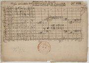 Anonimi seu Incerti // Missa Concertat tribus choris. I° choro CATB. 2° choro CATB. // 3. choro 2. vv. 2. violae cum organo et fagotto